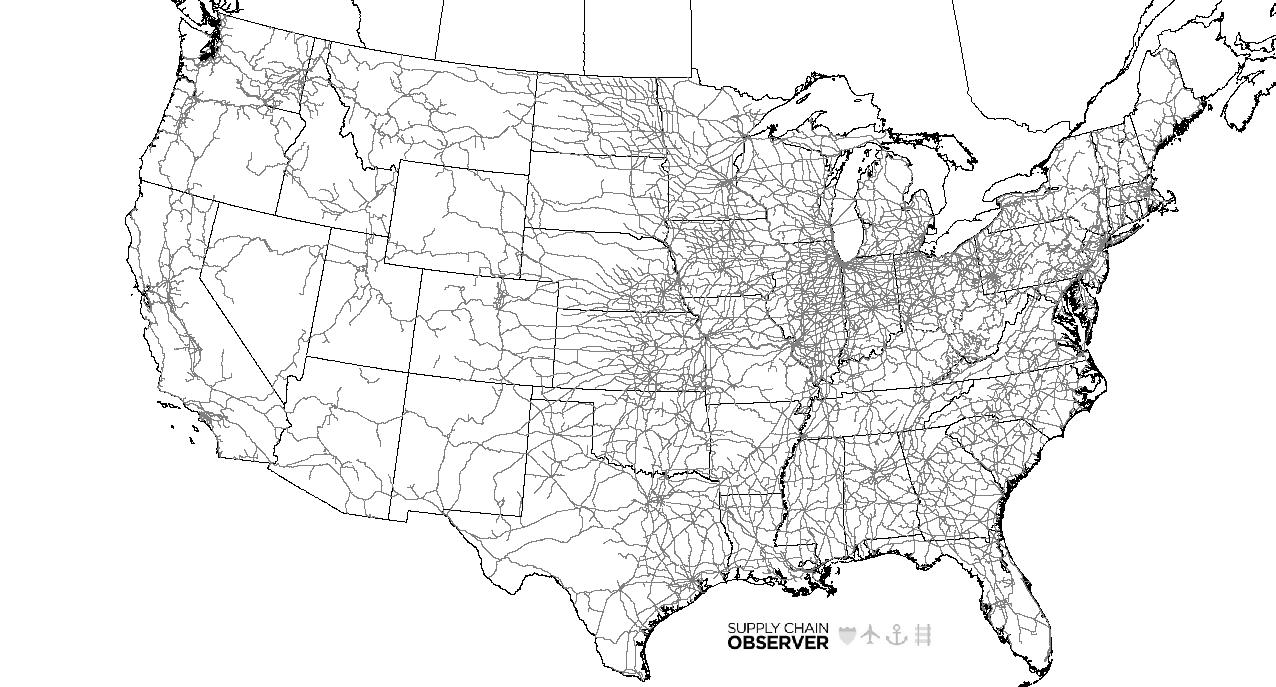 Maps - Map of us rail network